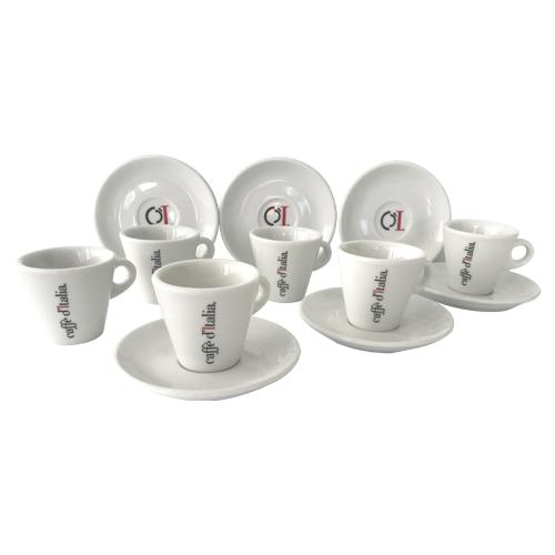 CAFFE dITALIA tazzine caffè con piattini porcellana