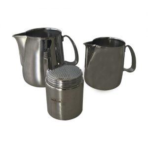 Set professionale cappuccino in acciaio lavazza originale