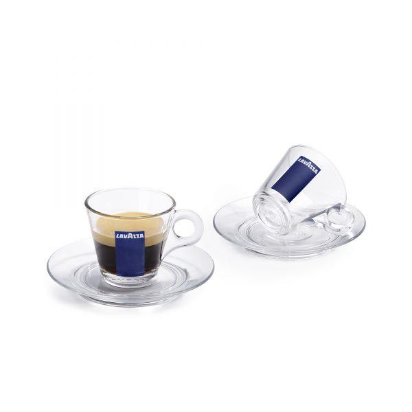 Set tazzine caffè in vetro lavazza originali per horeca