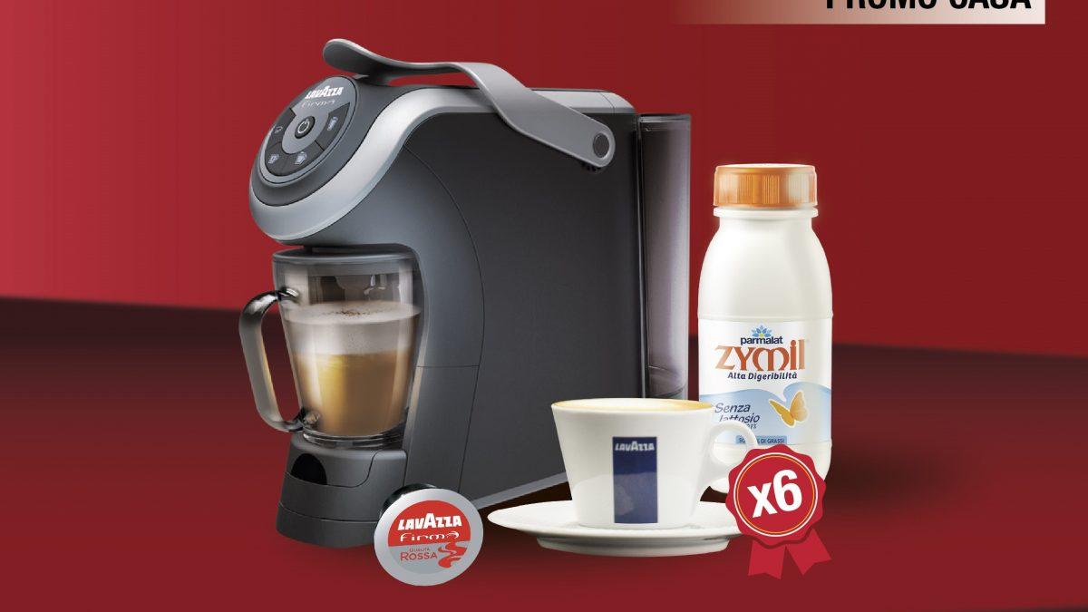 promo casa lavazza firma milk + tazze cappuccino